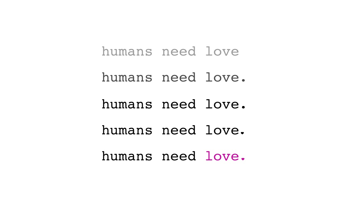 Humans Need Love brand identity